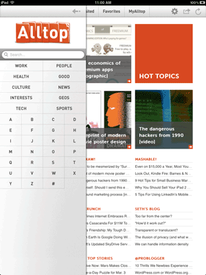 Alltop for iPad